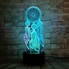 Lampe de Table des chimises de vent pour la saint-valentin, interrupteur de lampe de Table, capteur de rêve, lumière de nuit tactile en 3D, fête, cadeau de noël pour les filles
