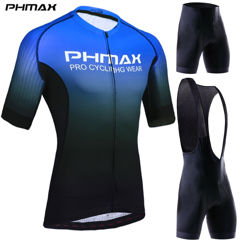 Roupas dos Homens Conjunto de Ciclismo Roupas de Bicicleta Camisa de Ciclismo Conjunto para Mans Phmax Ciclismo Respirável Anti-uv Bicicleta Wear Manga Curta Pro
