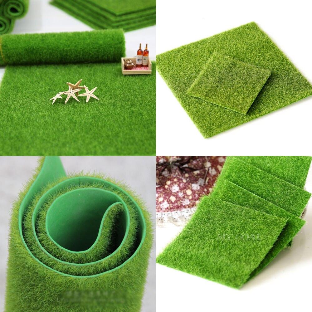 1 Pcs 30CM 15CM Artificial Grass Fake Lawn Simulation Ornament Dollhouse Mini Craft Micro Landscape fairy garden supplies