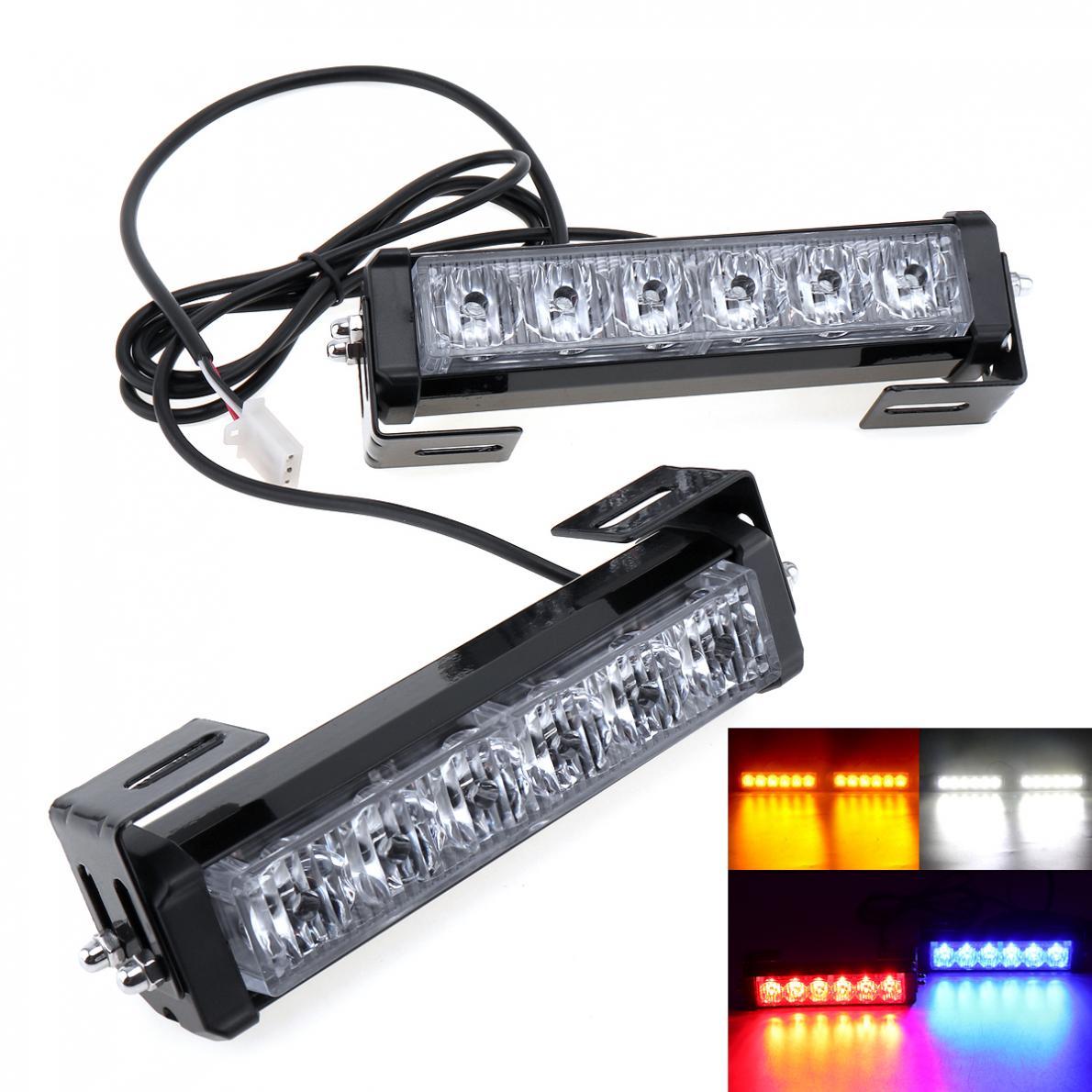 3000Lm DC 12V 36W Strobe Car Warning Light LED Daytime Running Police Emergency Light DRL Lamp for Truck Motorcycle Car SUV