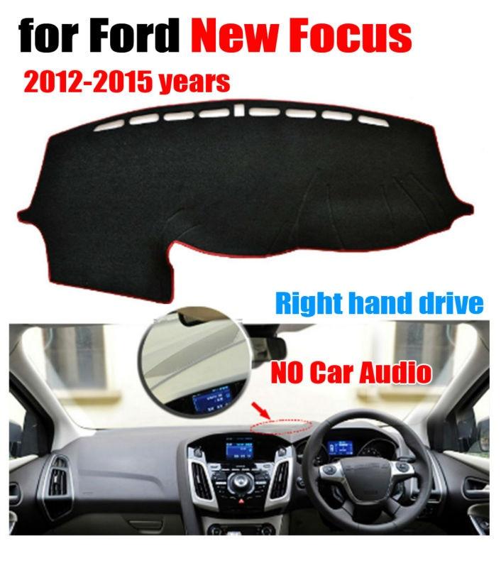 Cubiertas de salpicadero de coche mat para Ford nuevo enfoque 2012-2015 bajo configuración Lado derecho salpicadero de dash auto Accesorios