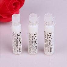 2ml Portable Waterproof Lashes Glue Eyelash Adhesive Glue white False Eyelash Makeup tool