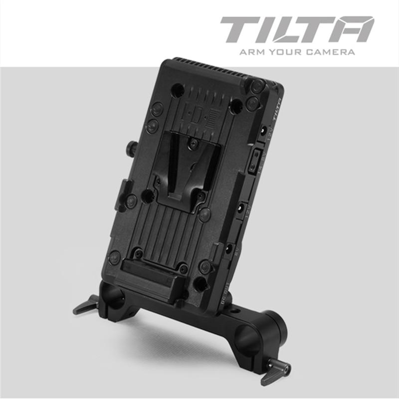 Tilta v montagem v-lock anton montagem para escarlate vermelho epic câmera sistema de alimentação da placa de bateria com adaptador de haste de 19mm