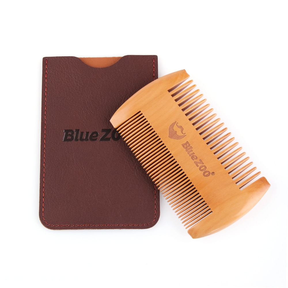 natural shen guibao wood buffalo horn exquisite thick long handle wooden comb coarse teeth hair massage no static combs Fashion Anti Static Wooden Beard Comb Wood Pocket Comb with Fine Coarse Teeth For Beard Hair Mustaches Beard Hair Comb maquiagem