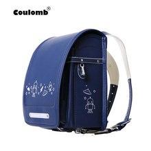 Coulomb caractère sac à dos pour garçons sacs décole orthopédique japon sac décole en cuir PU étudiant sacs à dos pour bébé sacs taille S