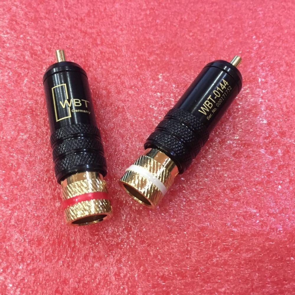 20 قطعة RCA موصل الذكور WBT-0144 إشارة خط المكونات WBT 0144 RCA المكونات اللوتس رئيس النحاس RCA التوصيل مطلية بالذهب