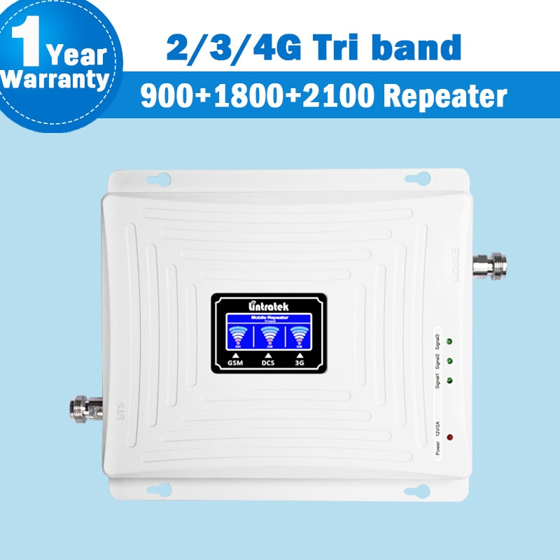 Lintratek nuevo 2G 3G 4G señal Tri banda repetidor amplificador pantalla LCD...