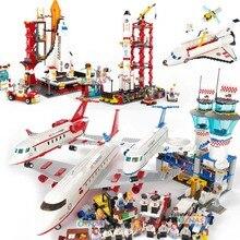 Aerospace Building bricks Blocks Kid Enlighten Block Space rocket Launch center model Toys For Children