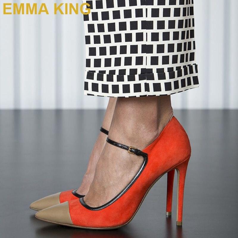 Zapatos de tacón alto para mujer con punta estrecha y tacones de aguja con hebilla para mujer zapatos de baile de fiesta de verano para mujer
