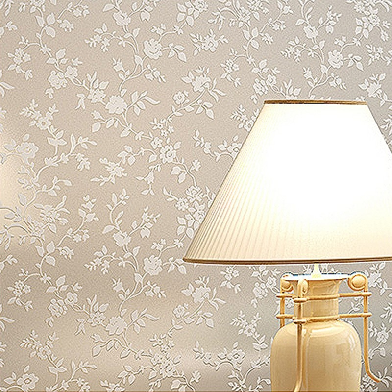 Papel tapiz Simple y liso moderno de wellyu, papel tapiz de flor Europea pequeño de color liso, papel tapiz de pared 3d para sala de estar