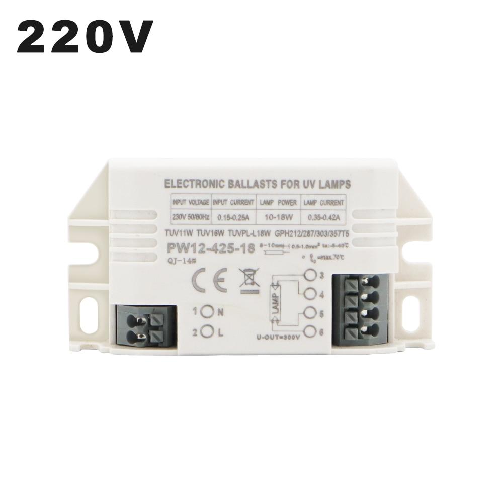 220V 4-18W универсальные электронные балласты для 2G7 G23 УФ лампы трубки G10q ультрафиолетовая бактерицидная лампа G5 UVC стерилизация лампы