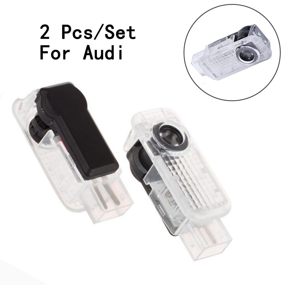 Lámpara de paso láser para puerta de pasajeros proyector de sombras de fantasmas lente LED coche luz logotipo Weclome para BMW/Audi/VW/Benz 3W 2 unids/set solamente