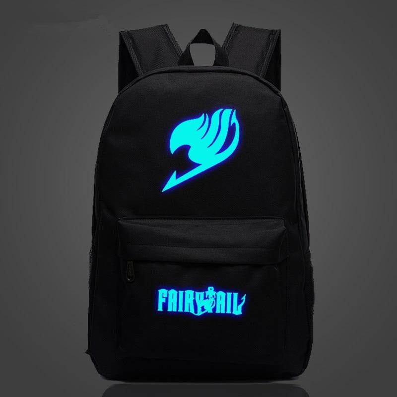 Free Shipping Game Fairy Tail Backpack Luminous Printing Gengar Backpacks School Bags For Teenager Girls Mochila Feminina
