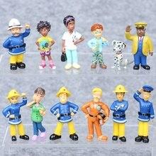 12 pièces/ensemble pompier Sam Action figurine Playset PVC poupées enfants anniversaire fête de mariage cadeau Anime Collection modèle Figure