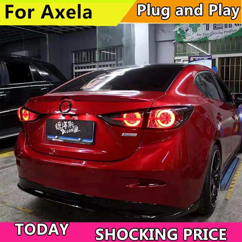Lámpara trasera estilo coche para Mazda 3 luces traseras 2014-2018 nuevo Mazda3 Axela LED luz trasera LED lámpara DRL + freno + señal de giro dinámica
