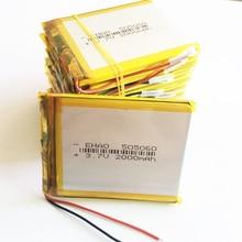 10 sztuk 3.7V 2000mAh LiPo akumulator litowo-polimerowy dla onda PAD GPS Vedio Tablet do gier moc PC Bank E-Book 505060