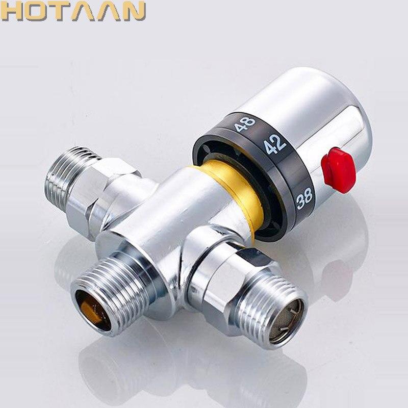 صمام خلط نحاسي ثرموستاتي عالي الجودة DN15(G1/2) ، تحكم تلقائي في درجة الحرارة ، أنبوب طاقة شمسية ، ترموستات