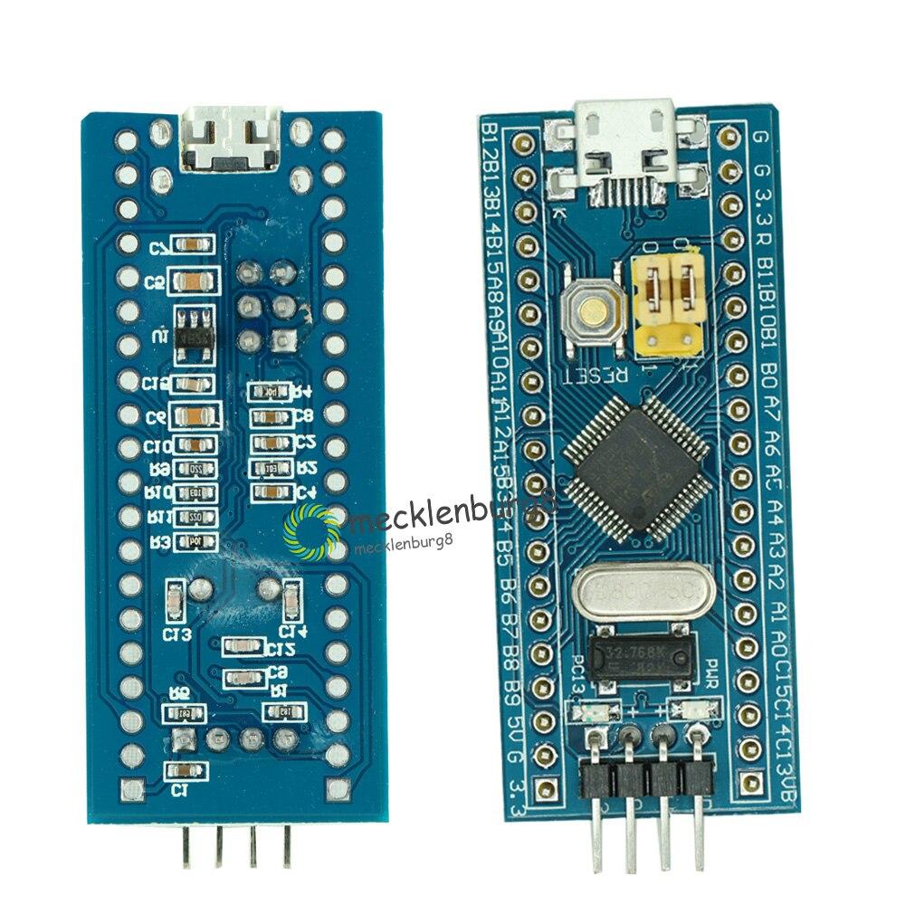STM32F103C8T6 ARM STM32 Cortex-M3 Módulo de placa de desarrollo de sistema mínimo con cristal para Arduino 72MHz Mini USB