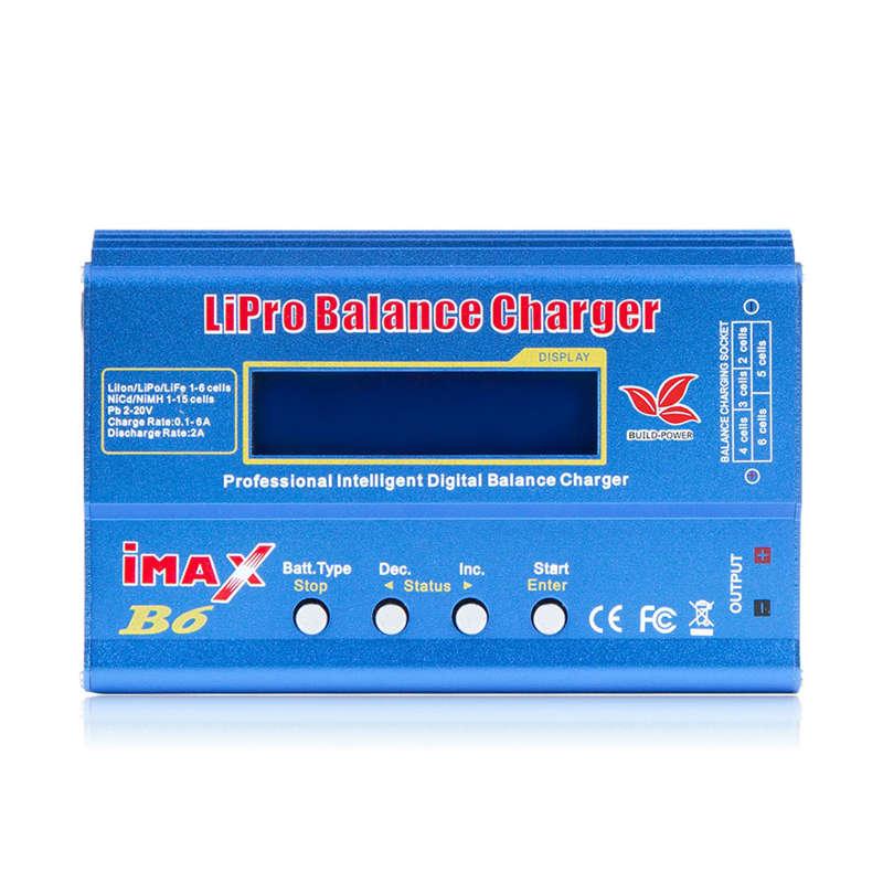 Imax B6 12V pil şarj cihazı 80W Lipro şarj dengeleyici Nimh Li-Ion ni-cd dijital Rc şarj cihazı 12V 6A güç adaptörü şarj cihazı (Plu