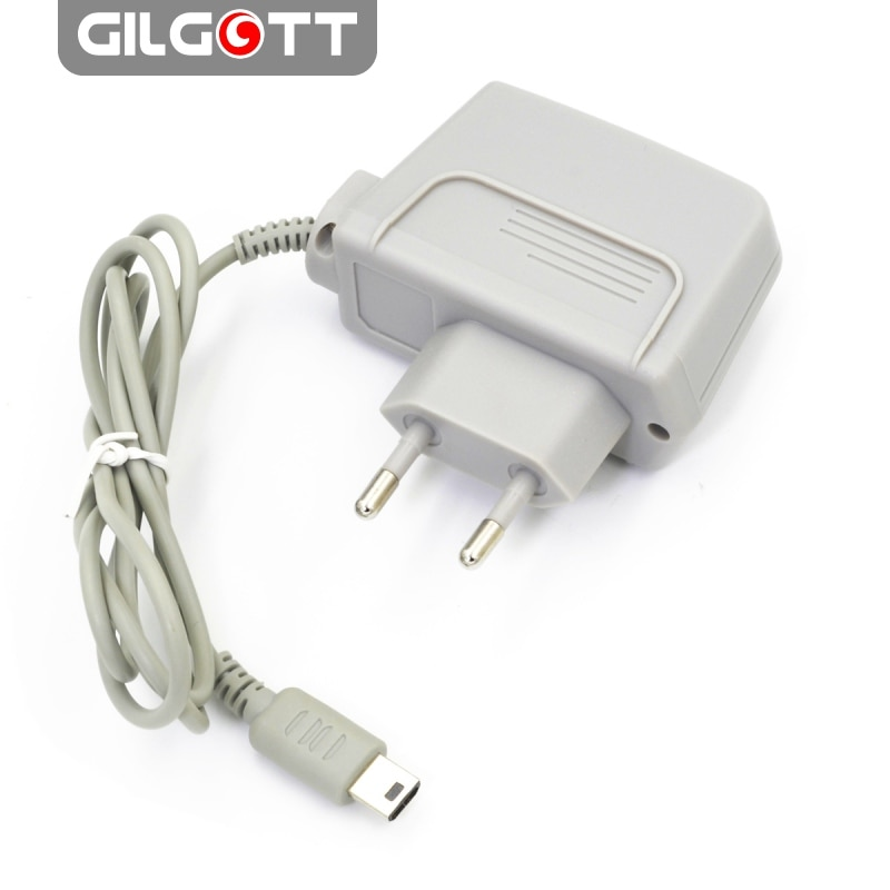 AC 100-240V Travel Wall EU Plug Charger Adapter Power Supply for Nintendo DSL DS Lite NDSL  - Grey