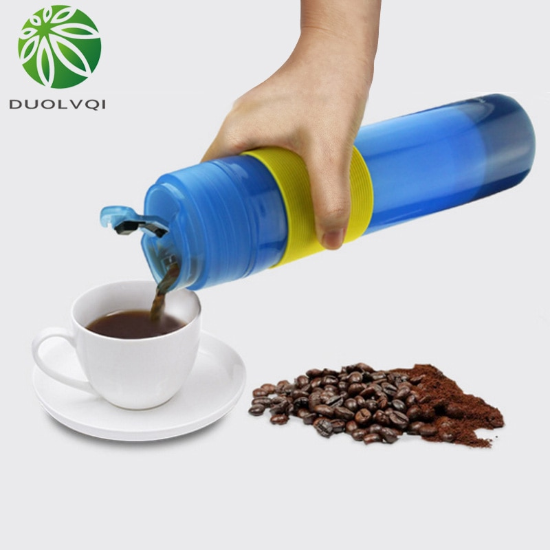 Mannual máquina de café para café imprensa francesa pote mão pote café portátil chá frutas xícara criativa