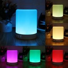 1 ensemble veilleuse Portable avec haut-parleur Bluetooth sans fil Bluetooth haut-parleur contrôle tactile couleur LED lampe de Table de chevet