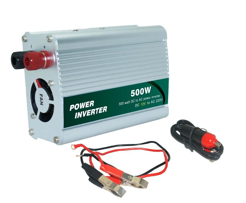 Новое поступление, прикуриватель, источник питания 500 Вт, 12 В, постоянный ток, 220 В, AC, автомобильный инвертор, адаптер, порт, горячая распродаж...