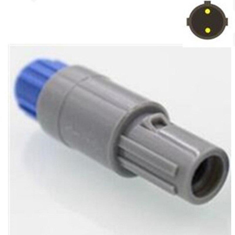10 шт./лот Бесплатная доставка Для LEMO 2 PIN круговой пластиковый штекер с двойным слотом разъем/вилка