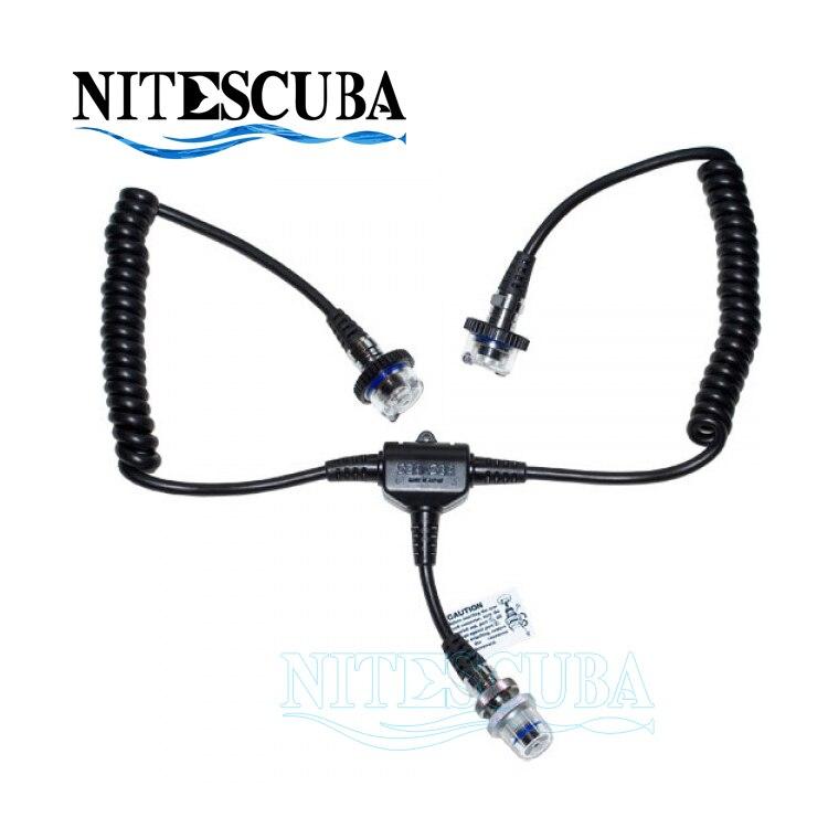 Cable de fibra óptica digital Nitescuba para buceo Strobe Dual Sync para INON Z240 SEA & SEA YS-D1 D2 5pin Nikonos para carcasa de cámara