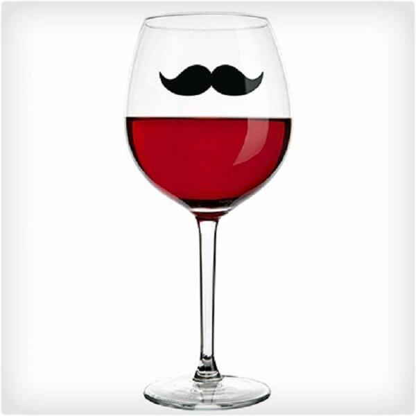 Único bigote beber marcadores elegante Staches de vidrio de vino de próstata parte 6 unids/pack 100 paquetes/lote