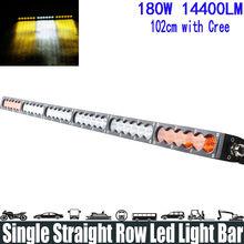 "180W 38 ""الأبيض العنبر الأصفر صف إضاءة مفرد ضوء بار بقعة/فيضان/كومبو شعاع مصباح LED فائق السطوع ضوء بار تشغيل أضواء المصباح"