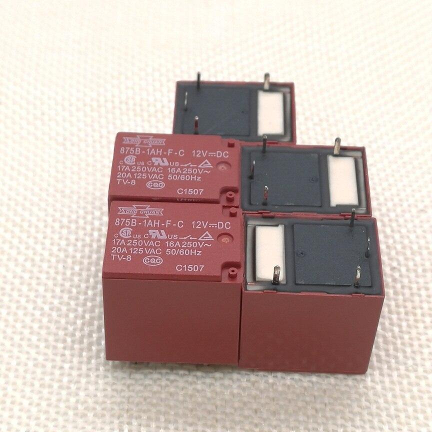 5 unids/lote 875B-1AH-F-C-12VDC 875B-1AH-F-C 12VDC relé de estado sólido DIP/4