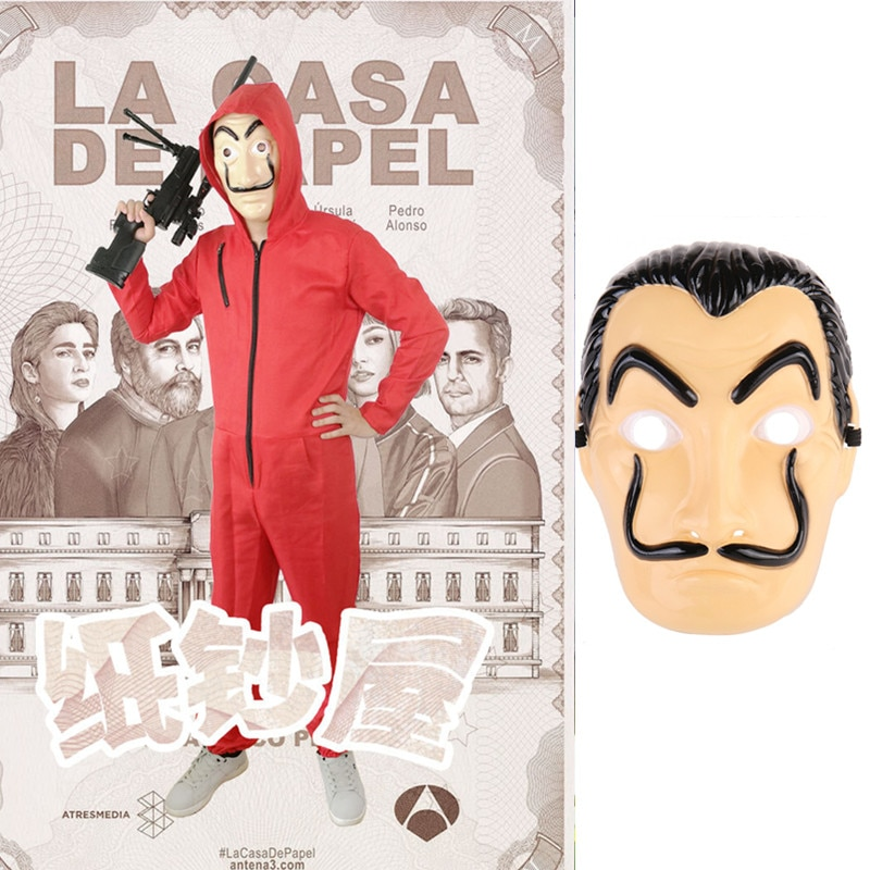 Company gathering Costume Salvador Dali Cosplay Movie Mask Money Heist The House of Paper La Casa De Papel Cosplay movie money heist the house of paper la casa de papel t shirt men funny dali print tshirt mens clothing summer top