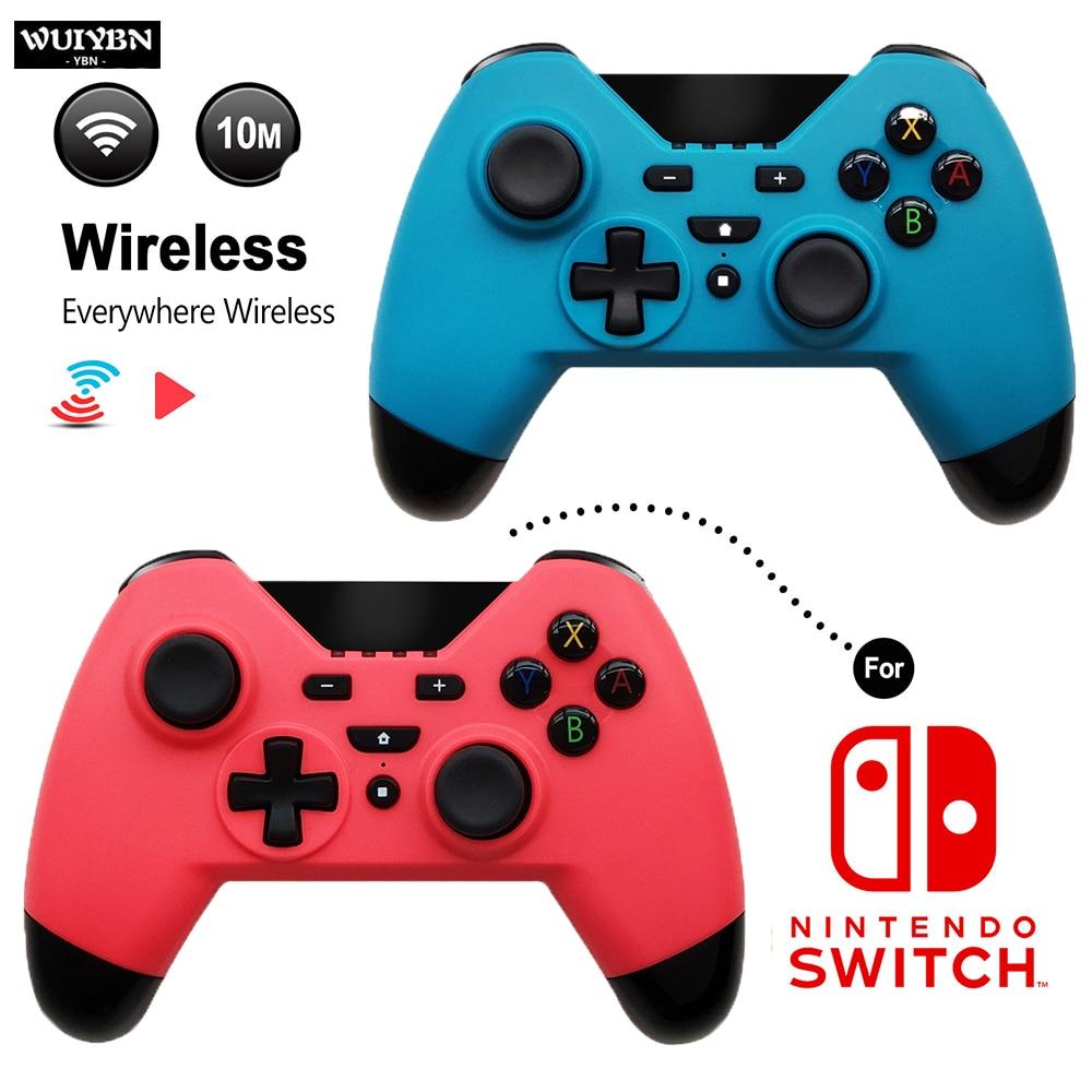 Wuiybn controlador de interruptor sem fio bluetooth ns gamepad joystick para interruptor máquina jogo pc vapor