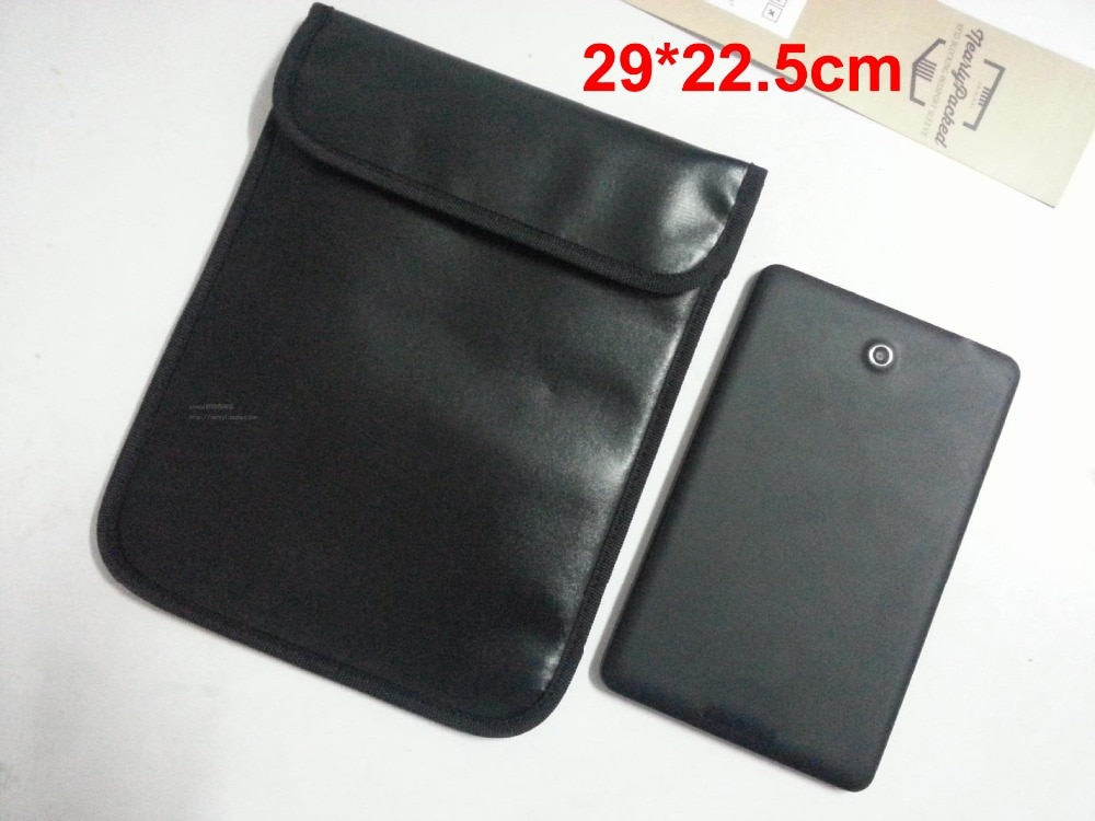 Get 10pcs New Ymitn Signal Blocker Business PU Pouch RFID Tracking Bugging Privacy Protector radiation bag For Apple Samsung tablet