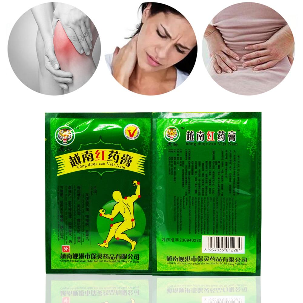 16 uds/2 bolsas Vietnam Tigre rojo bálsamo yeso dolor Muscular rígido hombro cuello masaje parche para alivio del dolor D02402