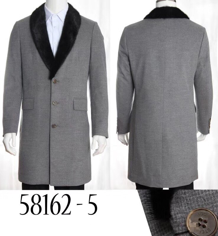 Bilionário cashmere casaco casaco vison colarinho de cabelo dos homens novo inverno quente moda negócios casual grosso tamanho grande frete grátis