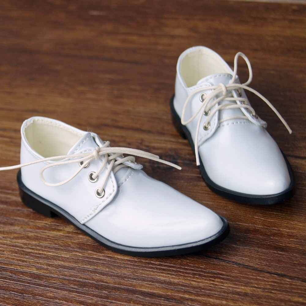 BJD White Bussiness Shoes Flats Synthetic Leather For  70cm  Tall SD17 Male DK DZ AOD DD Doll Free Shipping bjd briefs underwear underpants light grey for 1 6 1 4 17 24 1 3 70cm tall msd sd sd17 dk dz aod dd doll