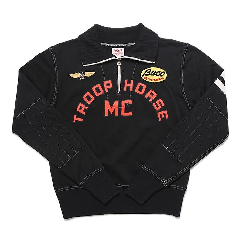 TroopHorse MC sudadera bordado Vintage suéter de chaqueta Cafe Racer camiseta de competición para los hombres