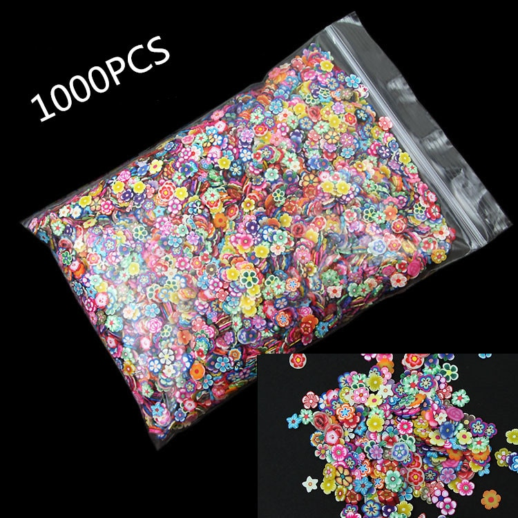 1000Pcs Polymer Clay Flower Crafts Flatback Scrapbooking For Embellishments Nail Stickers Art Decora