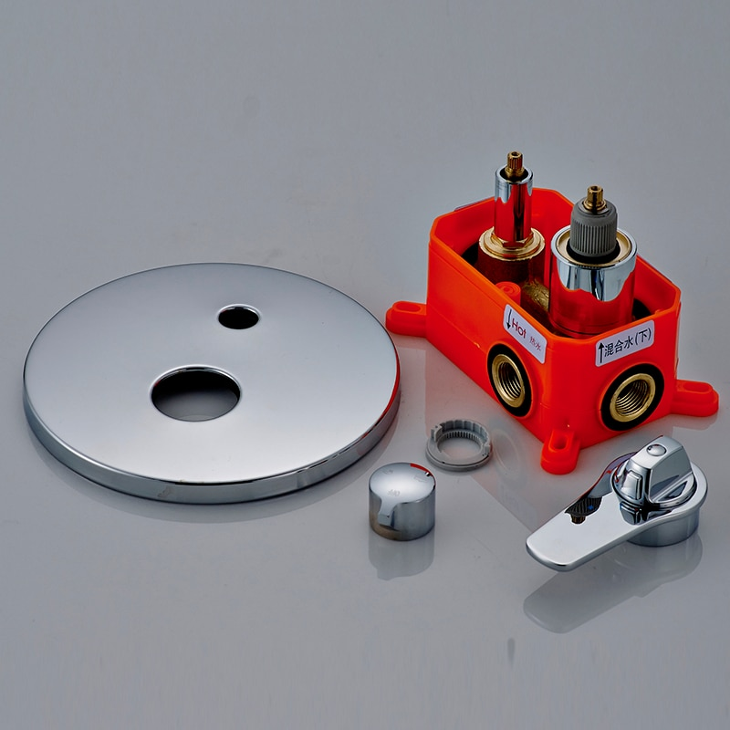 Купить с кэшбэком Bathroom Concealed Control Valve Thermostatic Mixing Valve Brass Wall Mounted1 /2 /3Ways Shower Panel Stainless Steel Controller