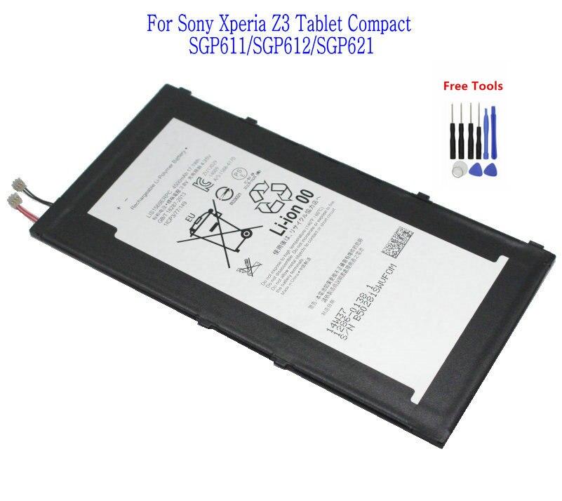 1x4500 мАч LIS1569ERPC запасная батарея для Sony Xperia Tablet Z3 Compact SGP611 SGP612 SGP621 + набор инструментов для ремонта