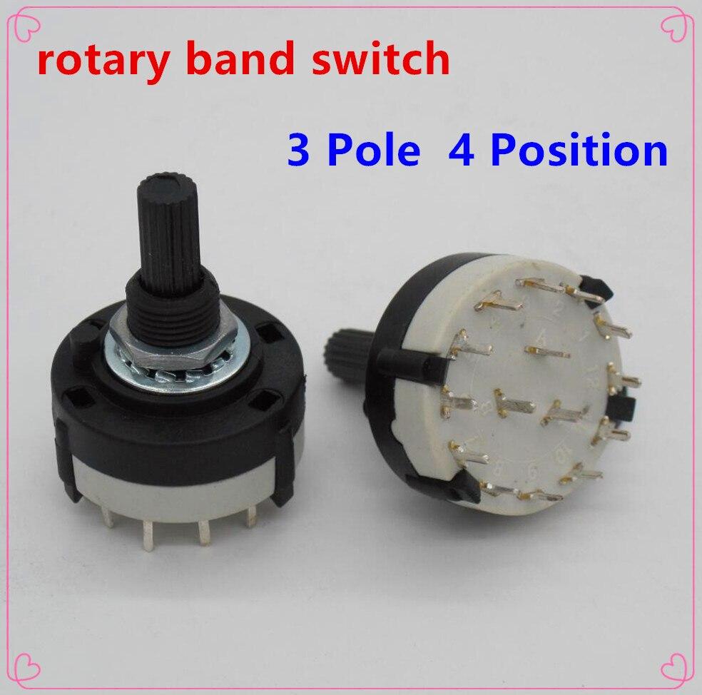 2 шт. высокое качество RS26 3 Pole положение 4 выбор диапазона Роторный Переключатель канала однослойный поворотного переключатель диапазонов