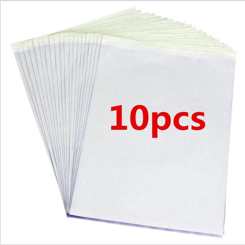 10 pçs/set Cópia em Papel de Transferência de Tatuagem Estêncil Hectógrafo Carbono Tracing Térmica