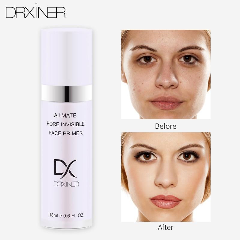 Base de Maquillaje DRXINER, Base de maquillaje de 18 ml, líquido mate, maquillaje de líneas finas, crema Facial de control de aceite, maquillaje de Base Nude