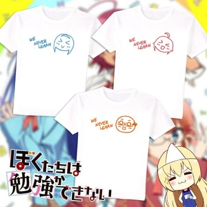 Anime Bokutachi wa Benkyou ga Dekinai We never learn  cosplay T-shirt Furuhashi Fumino  t shirt Cotton Men Tees tops