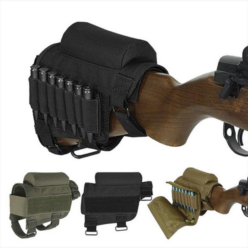 Fundas tácticas removibles funda de pistola ajustable bala Stock Rifle bolsa para descansar mejillas con bolsas portabrocas