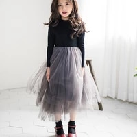 autumn fall baby girls party frocks 2019 elegant girl princess tulle evening dress for birthday party teens kids clothes 4 14 y