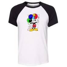 Oswald le lapin chanceux et la souris démon souris foudre flash conception été hommes à manches courtes impression t-shirt graphique t-shirt