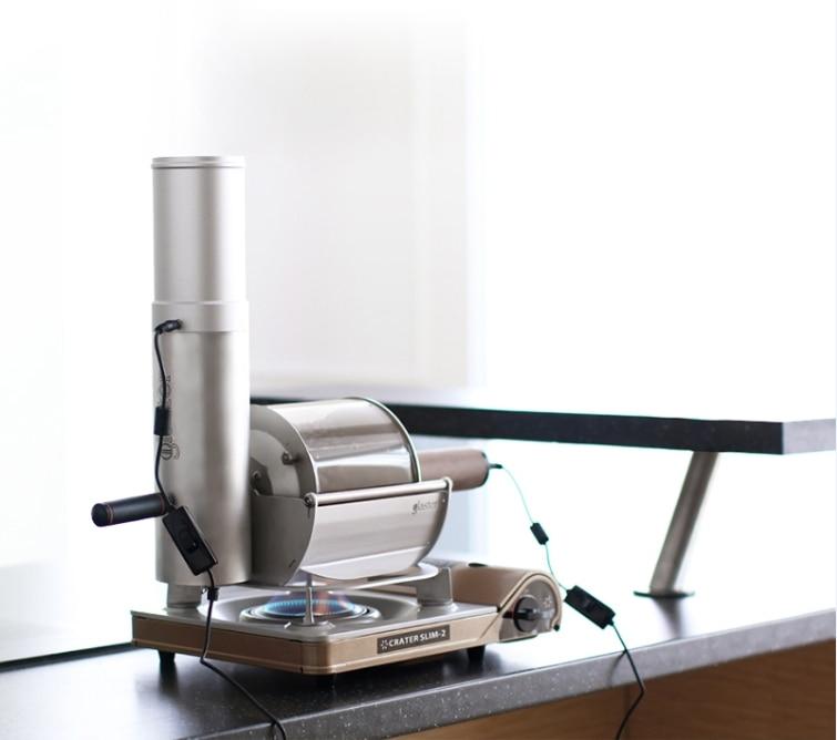 Grano de café tostador glaster recta fuego máquina de tostar café pequeño café uso tostador 500g de grano de café tostador